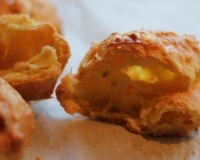 Gougères  (i.e. Really Easy and Very Sinful Little Cheese Puffs)