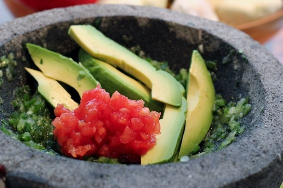 Guacamole from the garden, avocados and tomatoes