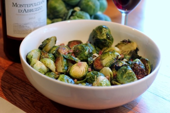 Roasted Brussels Sprouts with Pancetta and Anchovy Butter Sauce